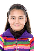 Adorable girl with woollen jacket — Stock Photo