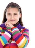 Adorable girl with woollen jacket — Stock Photo