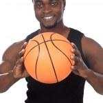Young with basketball ball — Stock Photo
