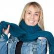 Blonde woman with a scarf — Stock Photo #9502494