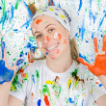 Woman painting — Stock Photo #9502620