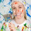 Woman painting — Stock Photo #9502624