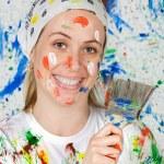 Woman painting — Stock Photo #9502626