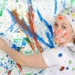 Woman painting — Stock Photo #9502628