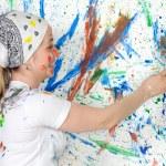 Woman painting — Stock Photo #9502630