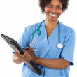 African american woman doctor — Stock Photo #9503654