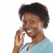 Woman talking on the telephone — Stock Photo #9503673