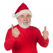 Funny Santa Claus saying OK with his thumbs — Stock Photo