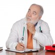 Pensive family doctor in the oficce — Stock Photo #9504161
