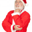Thoughful Santa Claus — Stock Photo