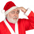 Stressed Santa Claus - Stock Photo