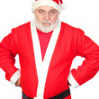 Portrait of angry Santa Claus — Stock Photo