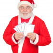 Santa Claus with envelopes for sending letters - Stock Photo