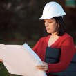 Attractive young person engineer — Stock Photo