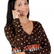 Stock Photo: Attractive girl with a mobile