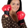 Boxer girl — Stock Photo