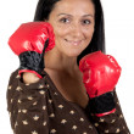 Boxer girl — Stock Photo