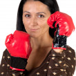 Stock Photo: Boxer girl