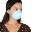 Worried girl with mask — Stock Photo #9506831
