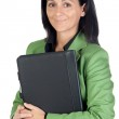 Businesswoman with green jacket — Stock Photo #9506867
