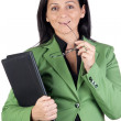 Businesswoman thinking — Stock Photo #9506885