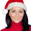 Beautiful girl with Christmas hat — Stock Photo
