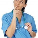 Lady Doctor thinking — Stock Photo #9507560