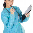Stock Photo: Attractive lady doctor