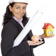 Attractive lady architect — Stock Photo #9507743