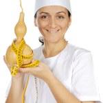 Happy attractive cook woman — Stock Photo
