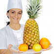 Happy attractive cook woman — Stock Photo #9507808