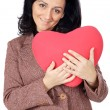 Stock Photo: Attractive lady enamored in sValentine