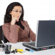 Attractive and elegant business woman in the office — Stock Photo #9507941