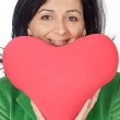 Attractive lady enamored in san Valentine — Stock Photo #9507955