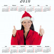 Calendar of year 2010 — Stock Photo
