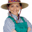 Beautiful woman gardener - Foto Stock