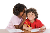 Kids studing together — Stock Photo