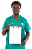 Doctor whit clipboard — Stock Photo