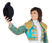 Attractive woman dressed toreador — Stock Photo