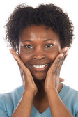 African American Woman Smilling — Stock Photo