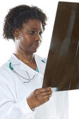 Woman doctor whit radiography — Stock Photo