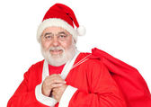 Santa Claus with a full sack — Stock Photo