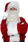 Santa Claus with arms crossed — Stock Photo