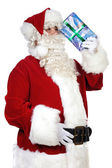 Santa CLaus thinking — Stock Photo