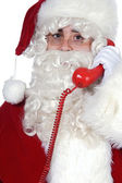 Santa Claus at the phone — Stock Photo