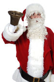 Santa Claus pealing a bell — Stock Photo