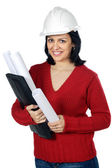 Attractive young person architect — Stock Photo