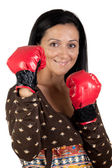 Boxer flickan — Stockfoto