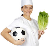 Good food for the health and deports — Stock Photo