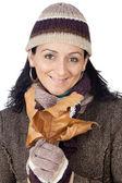 Señora atractiva abrigada para el invierno — Foto de Stock